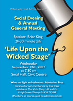 Poster for AGM and Social Evening