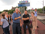 Welwyn Town Twinners at Champagne-sur-Oise Train Station