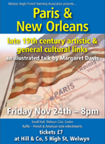 Poster for Paris and New Orleans Talk