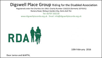 Welwyn anglo french twinning french conversation group riding for the disabled thank you letter expocarfo Gallery